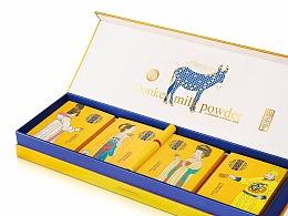 保健品礼盒包装设计(驴奶粉)
