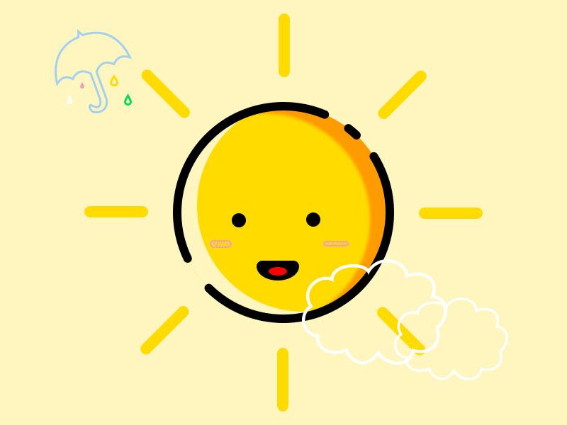 描边风格小图标-太阳图片