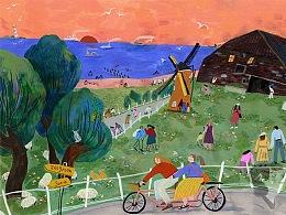 给荷兰zeegroen项目做的插图