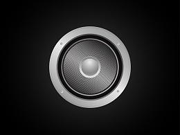 一枚质感拟物类音响图标(练习)