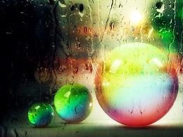 五彩的玻璃球