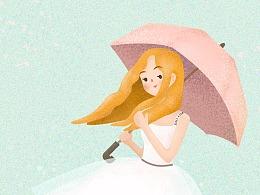 【鼠绘】女生节-噪点插画