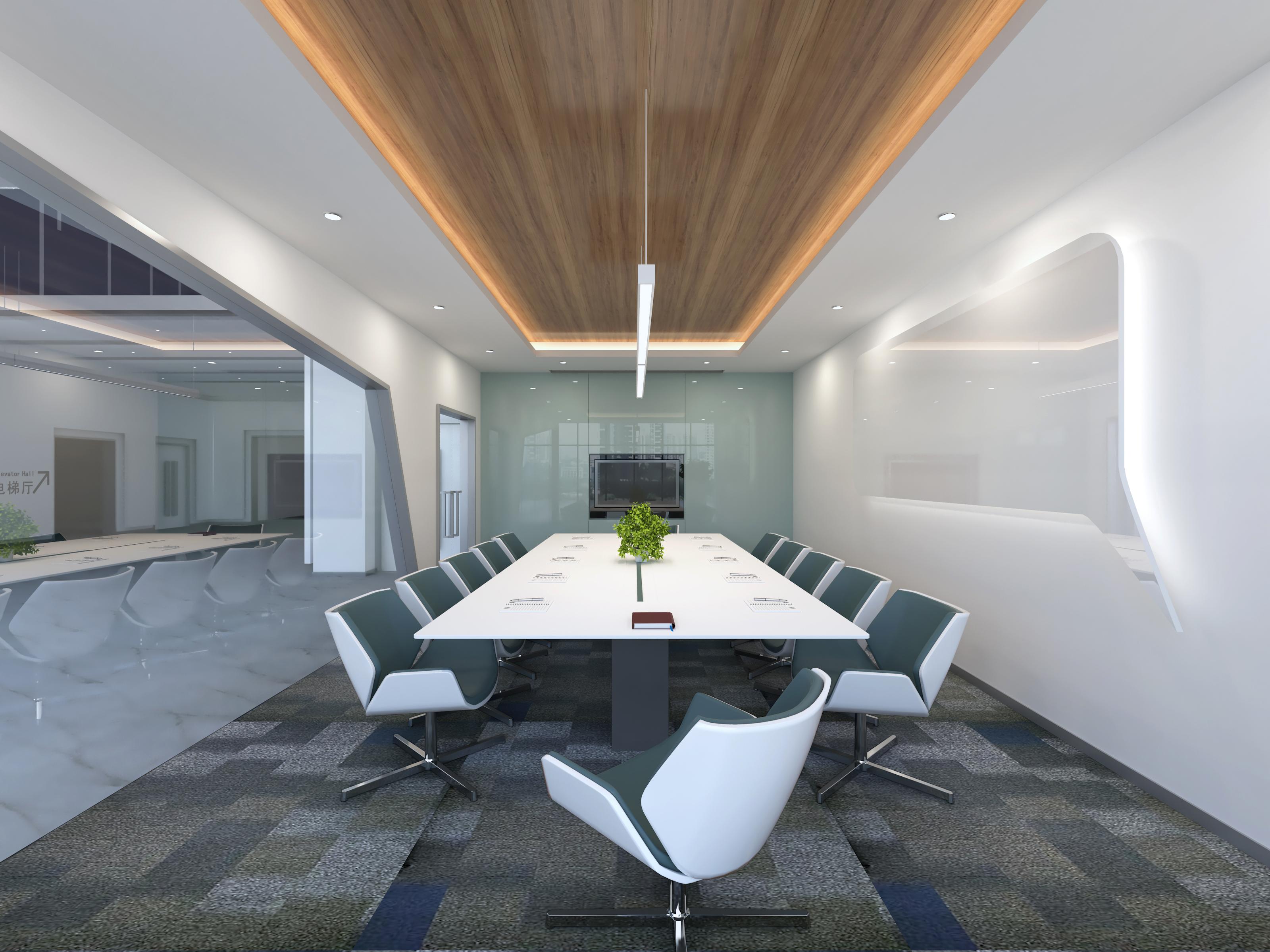 办公大堂及会议室设计效果图|空间|室内设计|曹欹图片