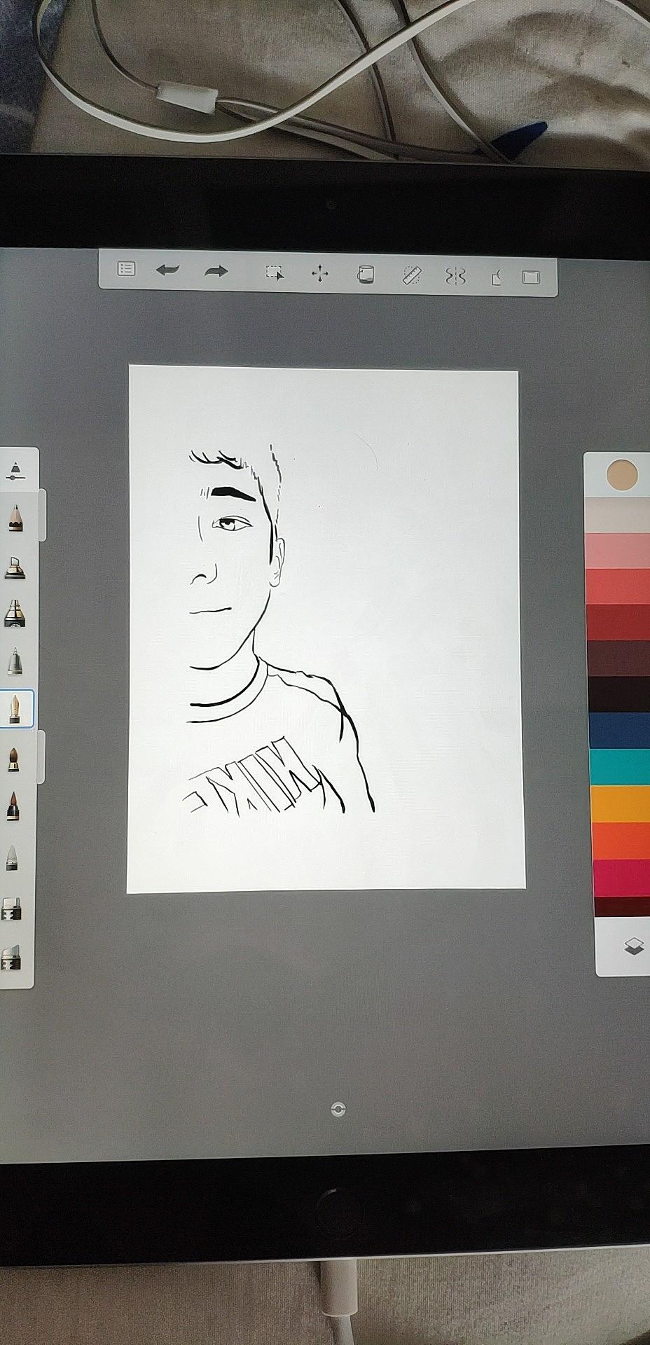 ipad绘画,头像插画制定,过年好|插画|商业插画|白浩杰