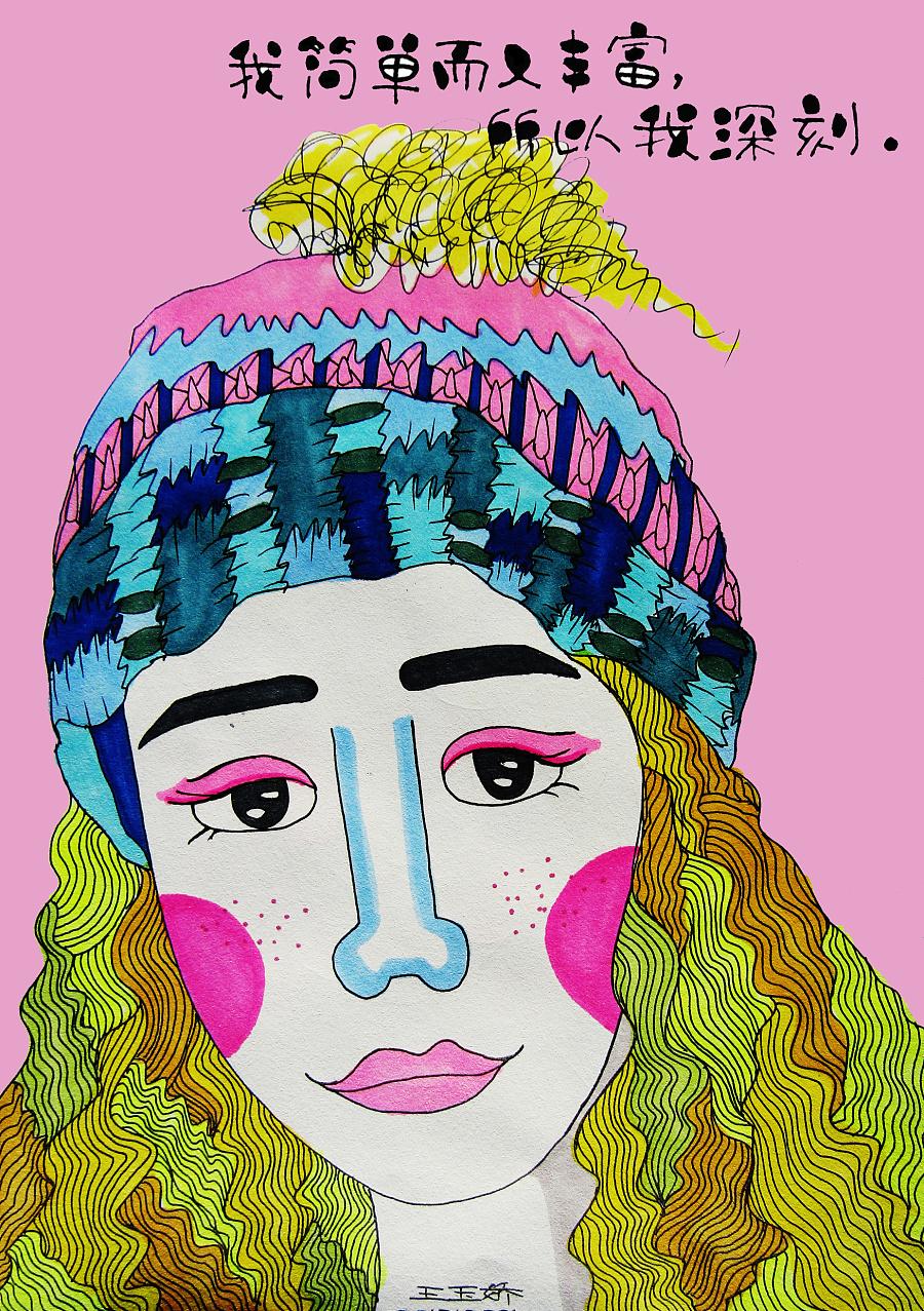 原创手绘头像|绘画习作|插画|暮小北