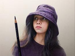 戴帽子美女
