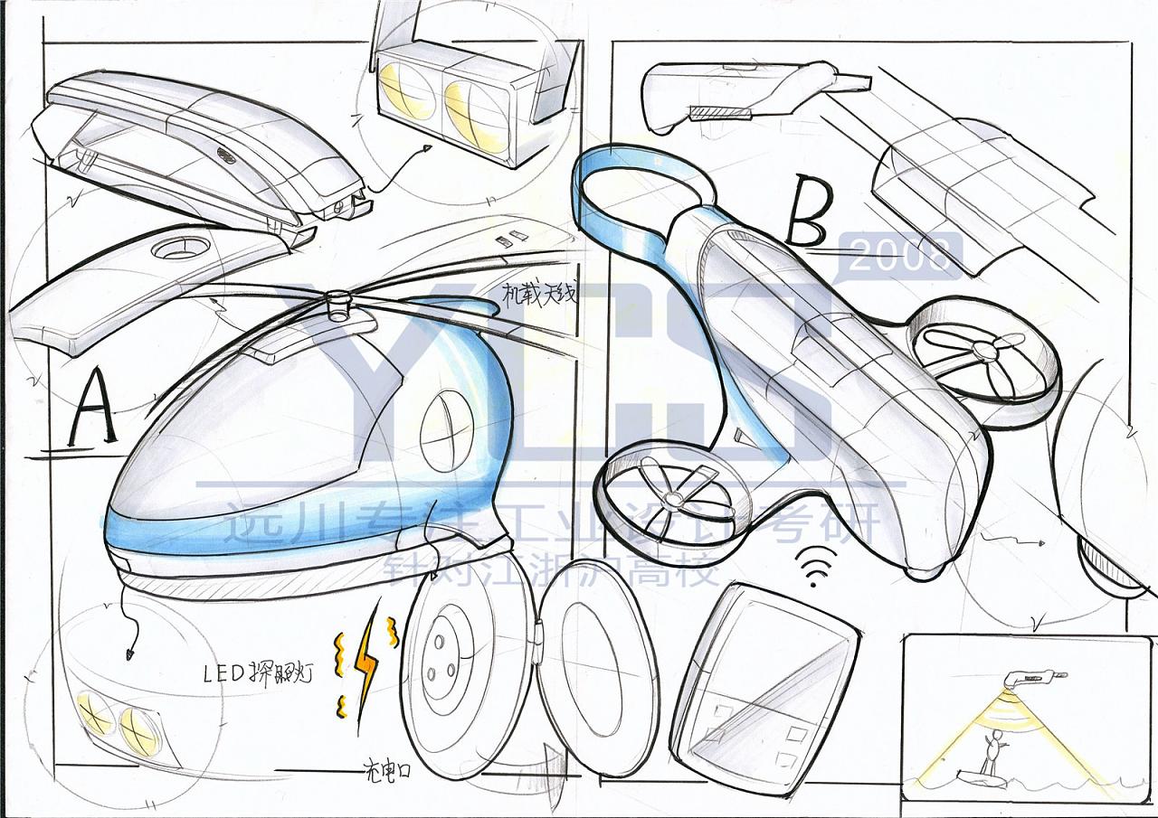 ycs远川工业设计考研手绘