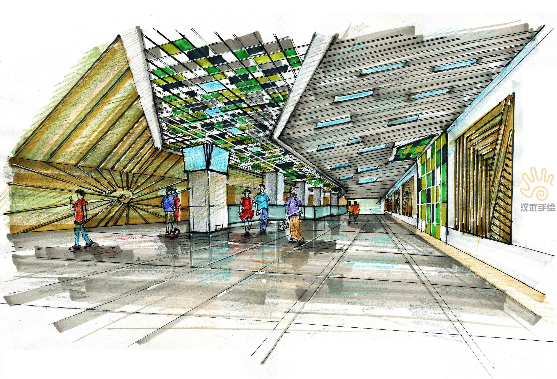室内设计手绘效果图|空间|室内设计|汉武手绘 - 原创