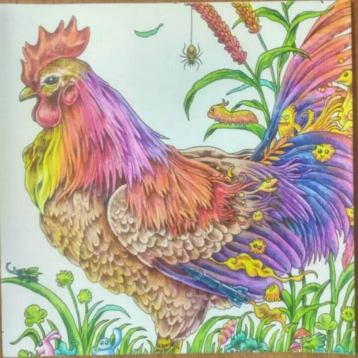 动物王国彩铅涂色