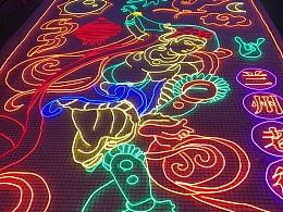 主题灯饰画 专业生产工厂铭星厂家 定制 户外墙体灯画