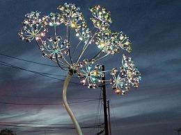 广场园林景观装置定制工厂铭星厂家户外灯光雕塑装置