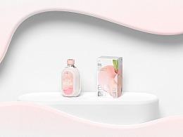 三生石白桃酸奶酒瓶型及包装设计