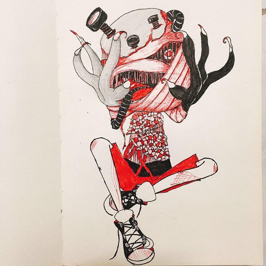 涂鸦,手绘,|涂鸦/潮流|插画|细牙