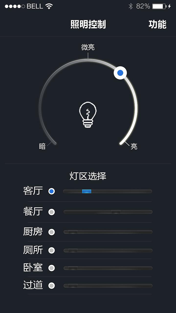 智能家居控制系统|ui|app界面|乐小草狂想曲 - 原创图片