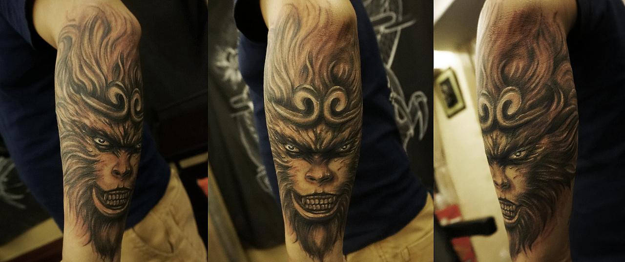 冬竹刺青动物纹身刺青图片