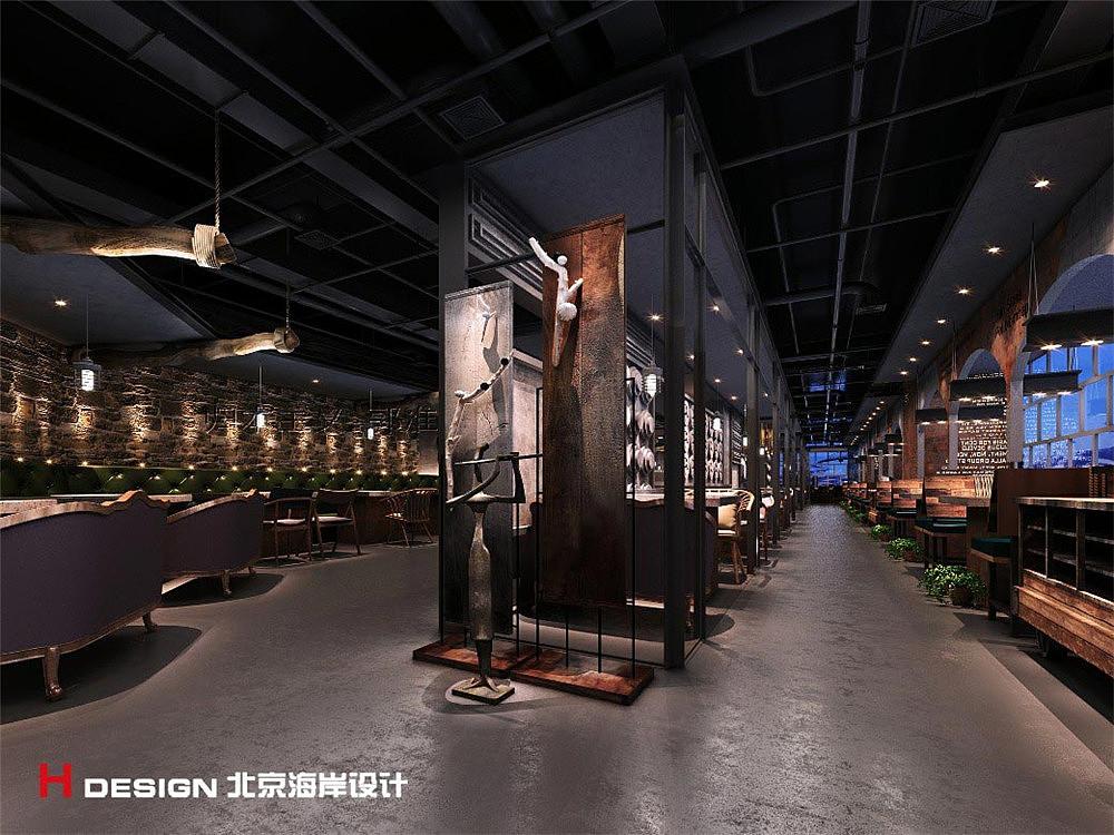北京双井汉拿山餐饮烤肉设计空间|铁路|室内设计|海岸房屋四电案例设计要求吗图片