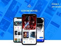 Storm movie电影APP设计