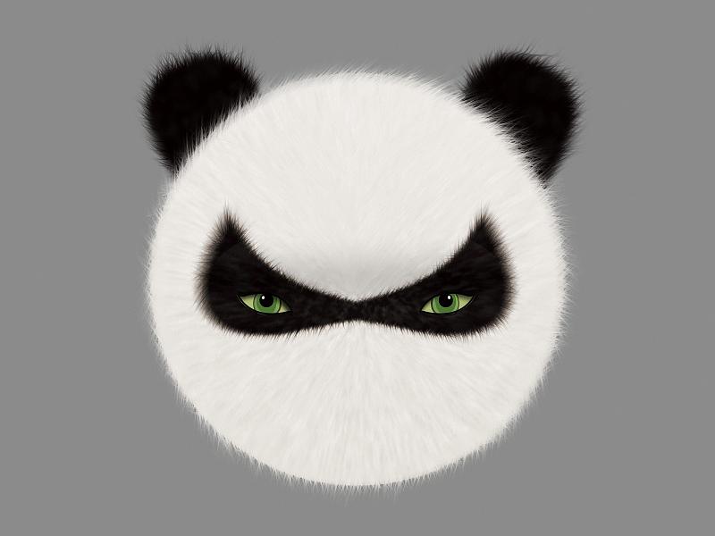 熊猫熊猫-手绘板制作 写实 平面 动漫