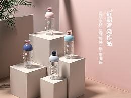 近期渲染作品(透明水杯·猫笼狗笼·锅·磨脚器)