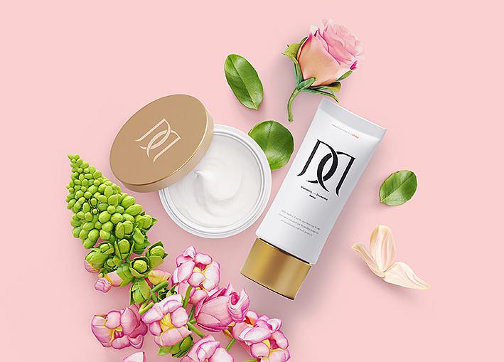 美哒哒化妆品logo设计 彩妆品牌logo设计 护肤品包装设计 洛阳商标图片