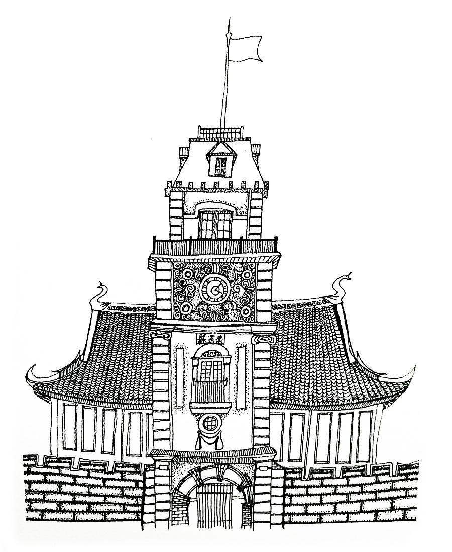 南通的钟楼图片