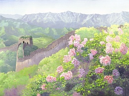 春天的长城(梦幻般的意境之美)