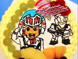 我给自己做的生日蛋糕 致敬 macross