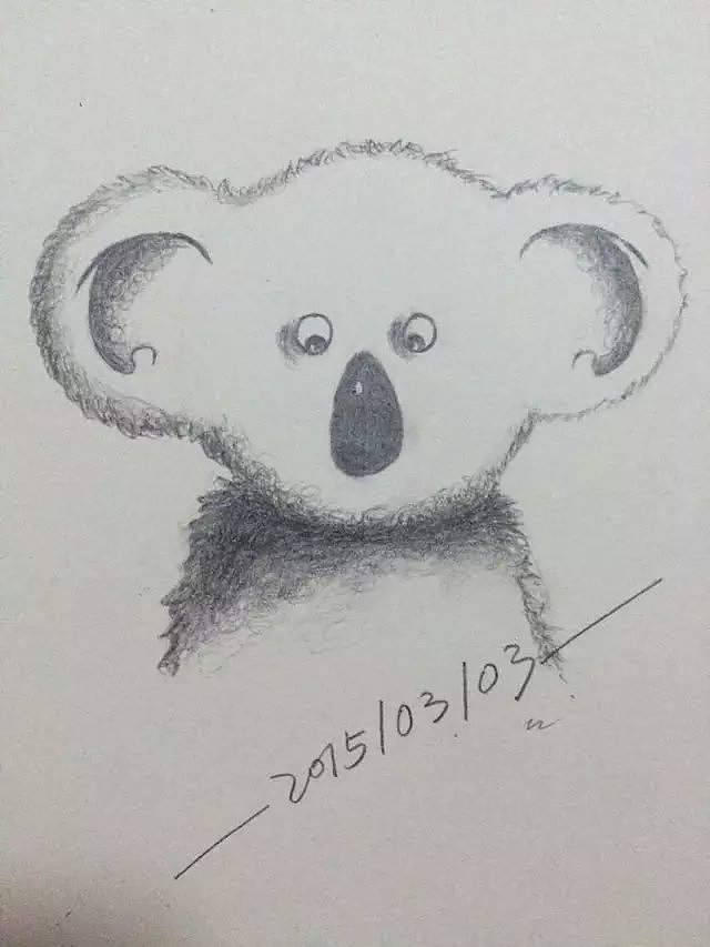 兔子手绘铅笔画