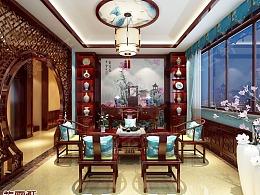 中式装修 茶室装修案例