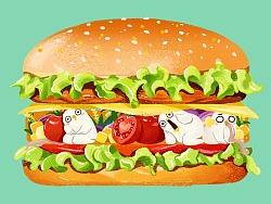 一款54个夹层的超级大汉堡 | 集体创意
