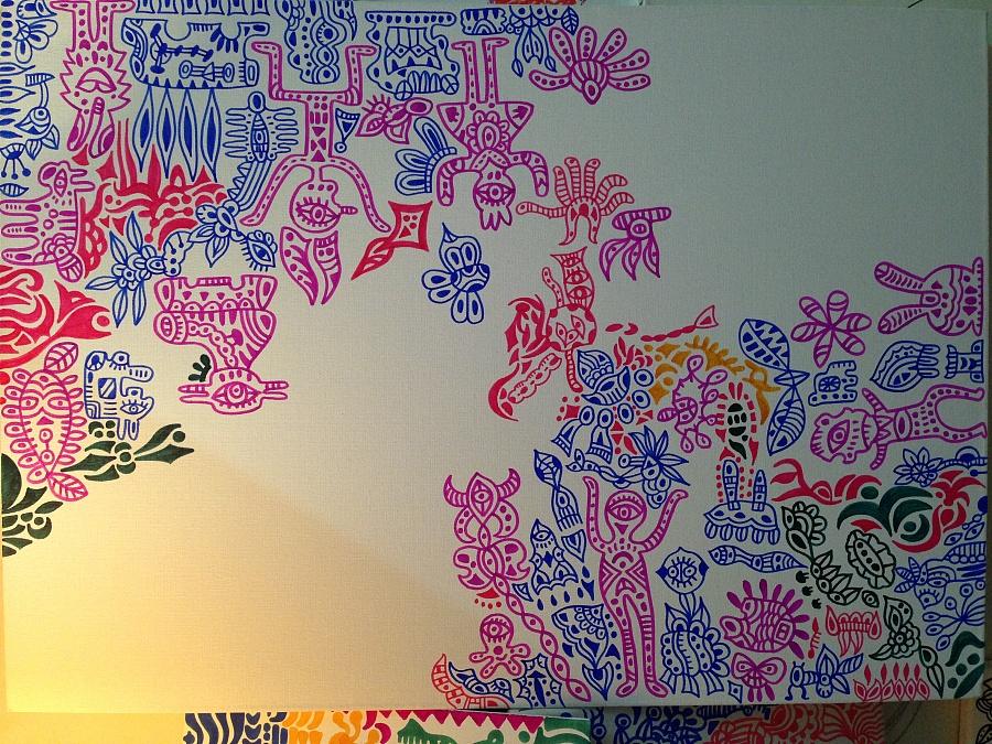 马克笔手绘《五彩斑斓的小动物》|绘画习作|插画|荣r