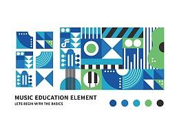 几何构成-[扉间教育]-音乐学院-logo设计-品牌提案