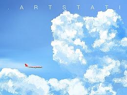 穿越云端的飞机