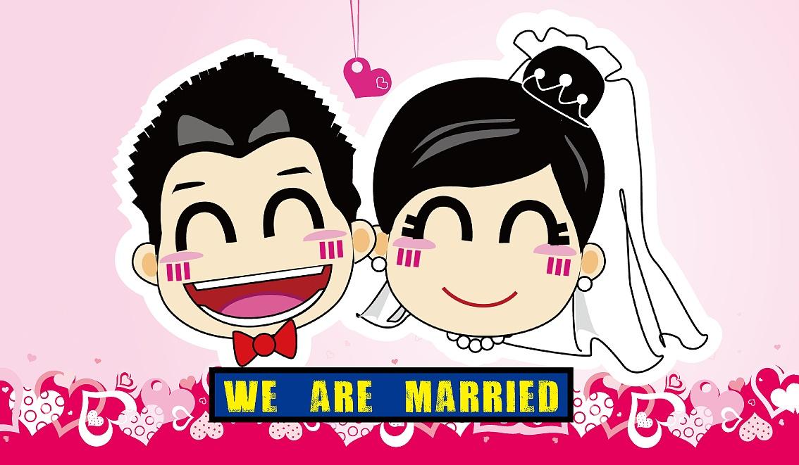 婚礼卡通小人