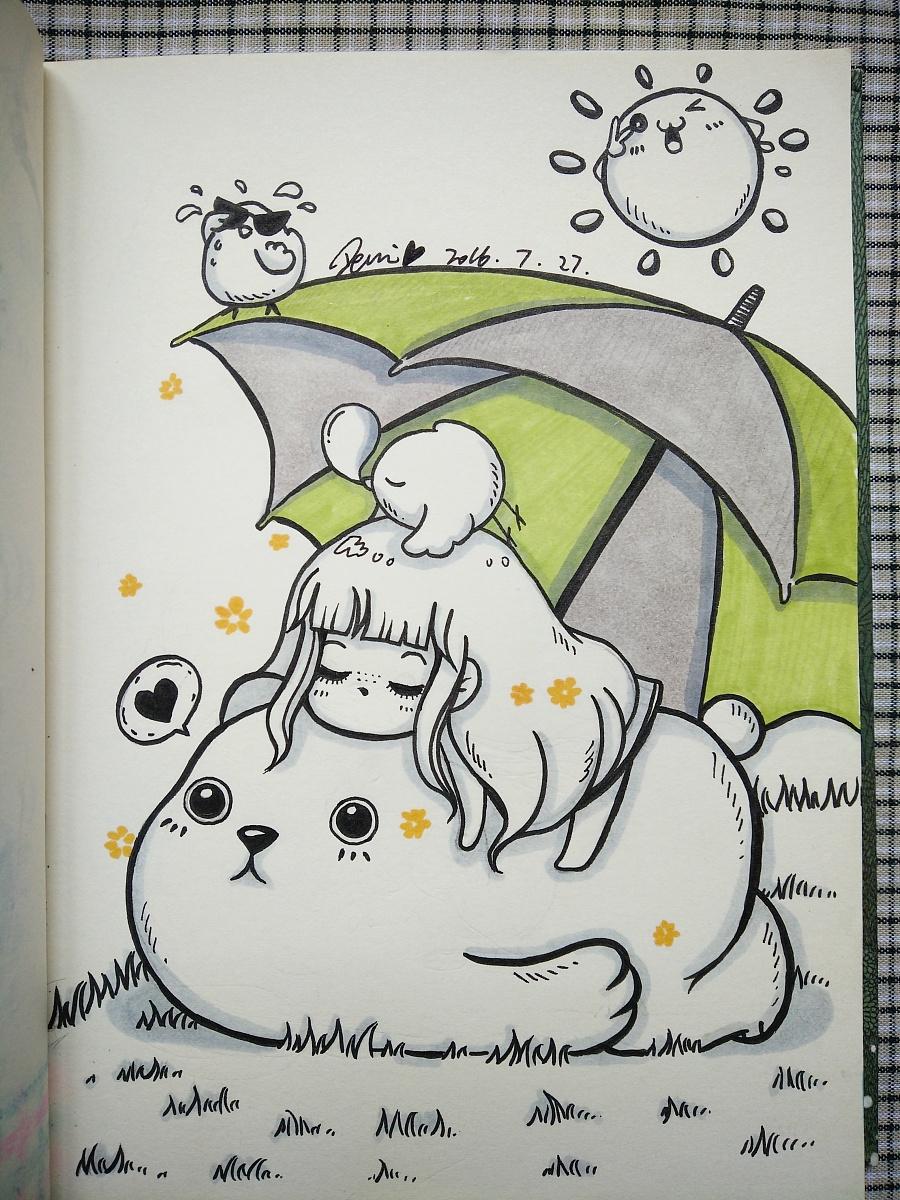 手绘插画图片简单 日记手绘超简单小插画 手绘插画
