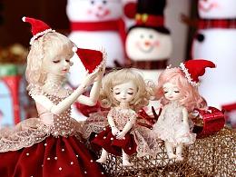 【花花姑娘。倒影】BJD娃娃—圣诞主题