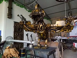 翼龙 铁艺雕塑重金属朋克风