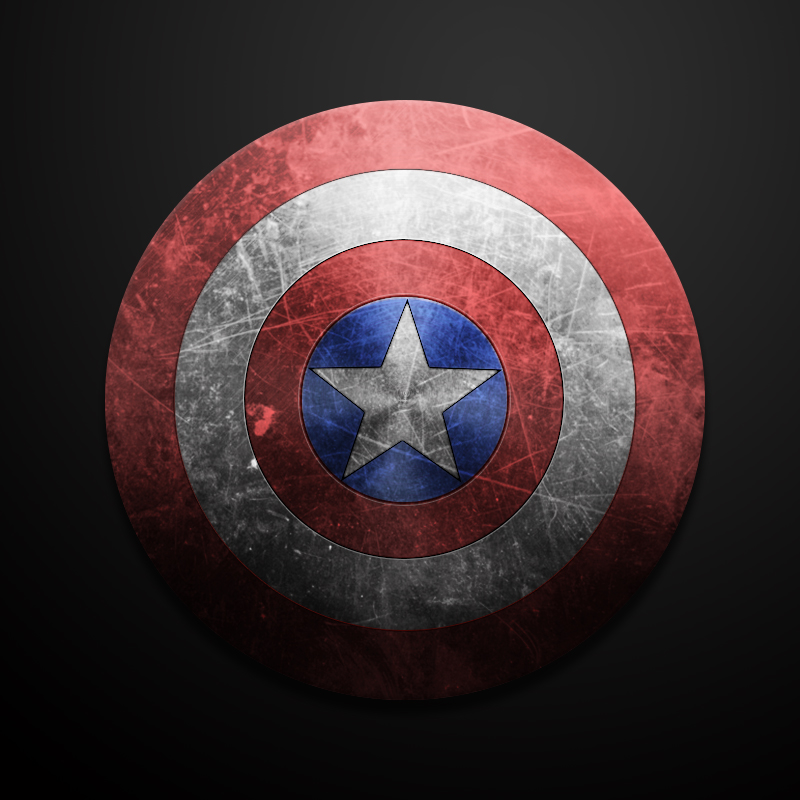 临摹练习-美国队长盾牌|图标|ui|run