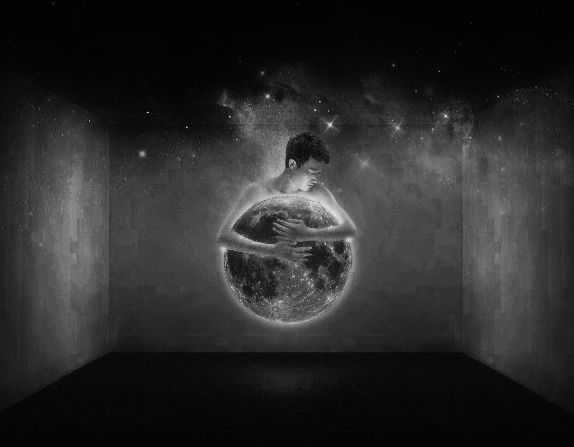 创意摄影 星月的温柔图片