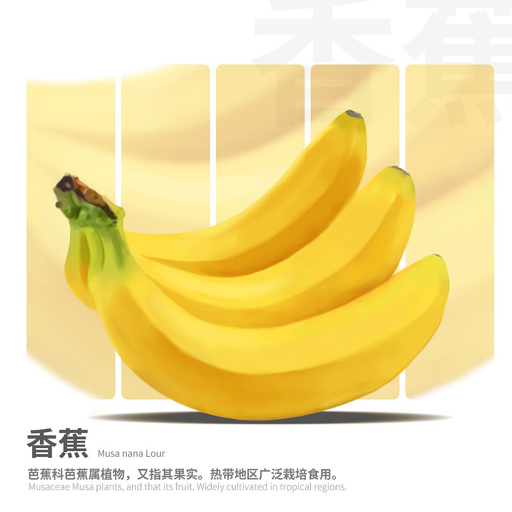 手绘练习-香蕉