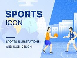 Sport icon and Flat illustration