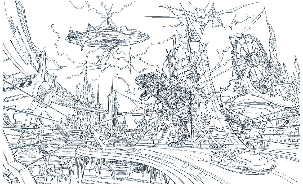 未来世界 插画 概念设定 joeman - 原创作品 - 站酷