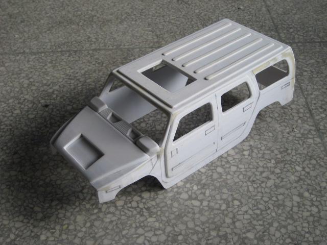 悍马h2汽车模型手工制作过程|模型/平台玩具|手工艺
