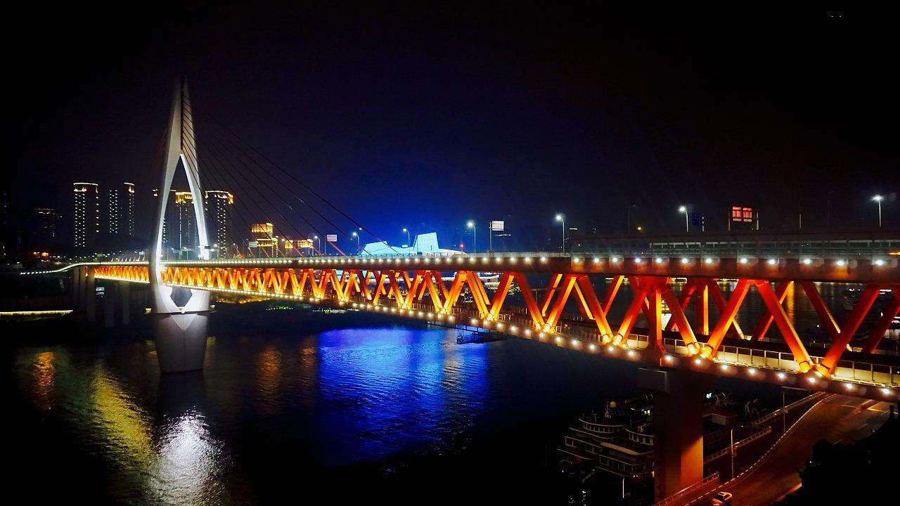 重庆桥梁简笔画