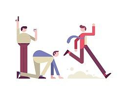 扁平插画——关于职场