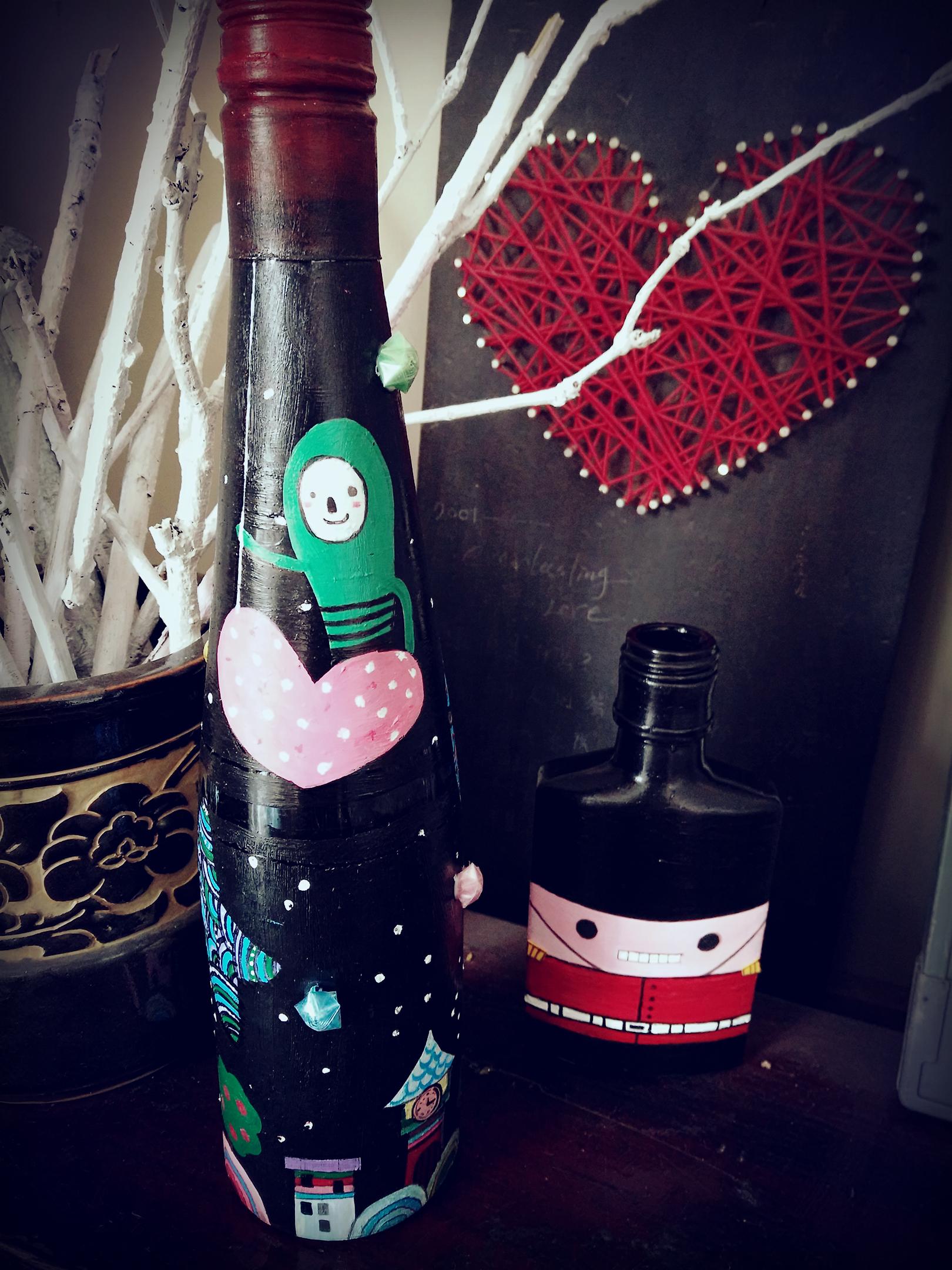 红酒瓶幼儿手工制作