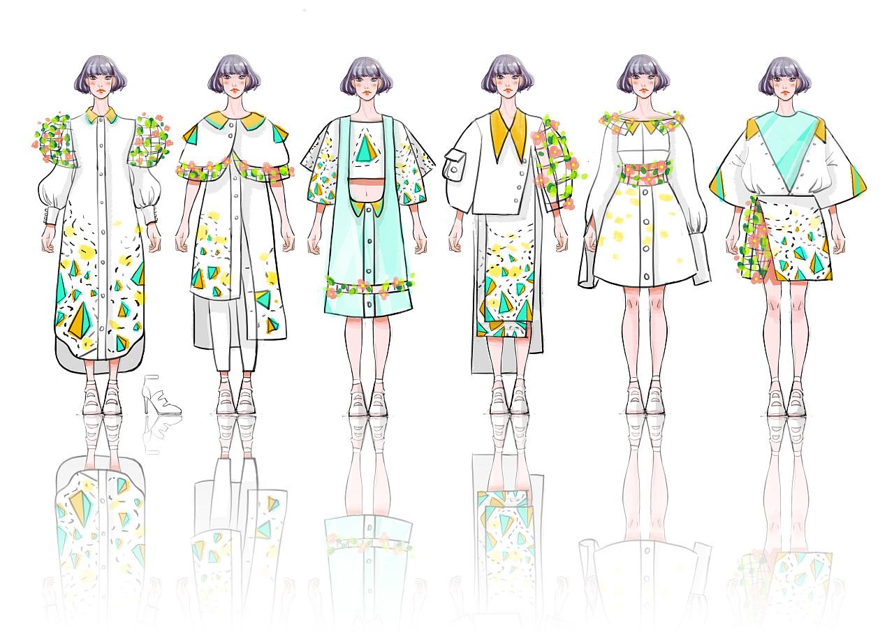 服装效果图手绘图片_服装设计效果图 服装 其他服装 陈现 - 原创作品 - 站酷 (ZCOOL)