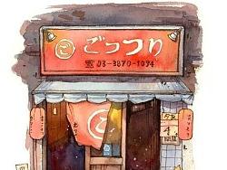 日本街景速写