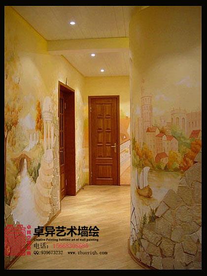 主题酒店壁画 酒店餐厅墙绘图片