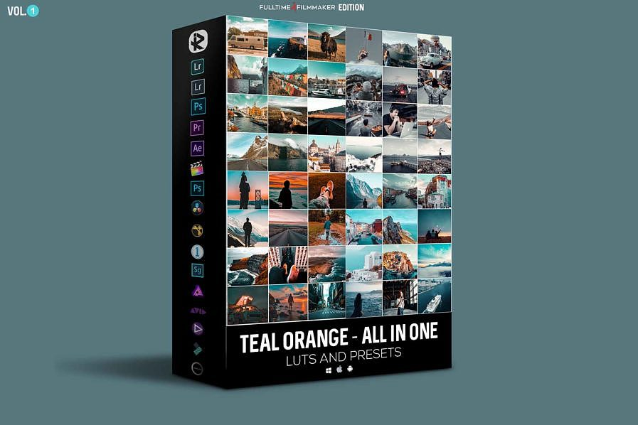 【P411】里亚兹姆最著名的青橙电影预设包 照片视频调色 Riyazmn Teal Orange And Presesets Cinematic All In One Pack